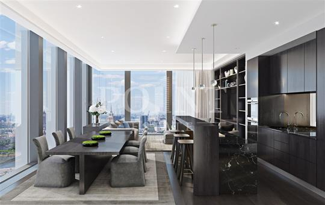 2-комн квартира, 101 м2, 53 этаж