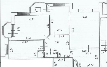 3-комн квартира, 83 м<sup>2</sup>, 22 этаж_1