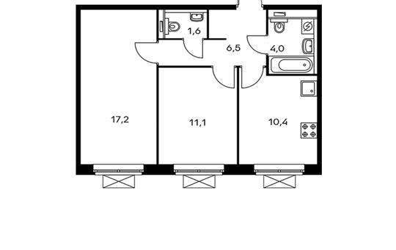 2-комнатная квартира, 50.8 м<sup>2</sup>, 5 этаж_1