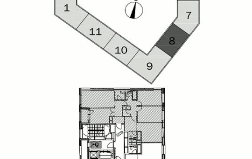 4-комнатная квартира, 109.2 м<sup>2</sup>, 15 этаж