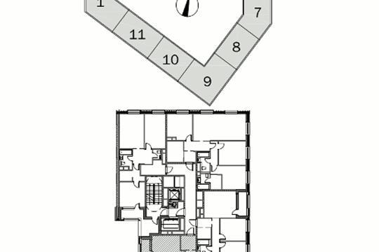 3-комнатная квартира, 105.5 м<sup>2</sup>, 11 этаж