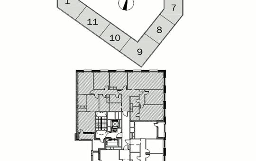 Многокомнатная квартира, 181.5 м<sup>2</sup>, 6 этаж