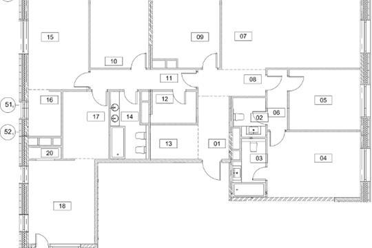 Многокомнатная квартира, 181.5 м2, 14 этаж