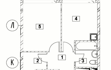 1-комн квартира, 34.38 м2, 12 этаж
