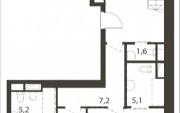 Студия, 181 м<sup>2</sup>, 12 этаж