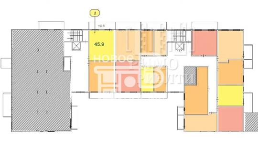 2-комн квартира, 45.9 м2, 1 этаж