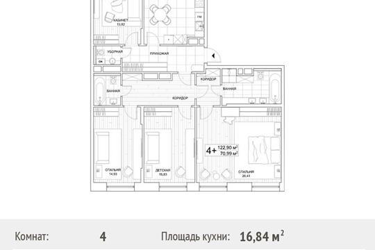 4-комн квартира, 123 м<sup>2</sup>, 7 этаж_1