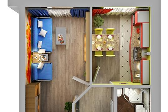 1-комнатная квартира, 34.02 м<sup>2</sup>, 9 этаж