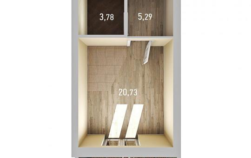 1-комнатная квартира, 31.26 м<sup>2</sup>, 15 этаж