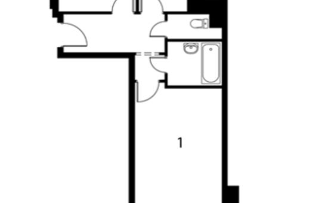 2-комнатная квартира, 54.7 м<sup>2</sup>, 1 этаж