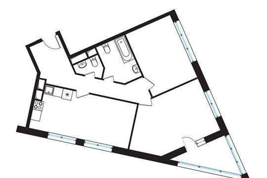 3-комнатная квартира, 75.14 м<sup>2</sup>, 6 этаж