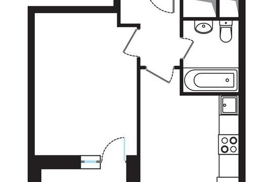 1-комнатная квартира, 33.35 м<sup>2</sup>, 13 этаж