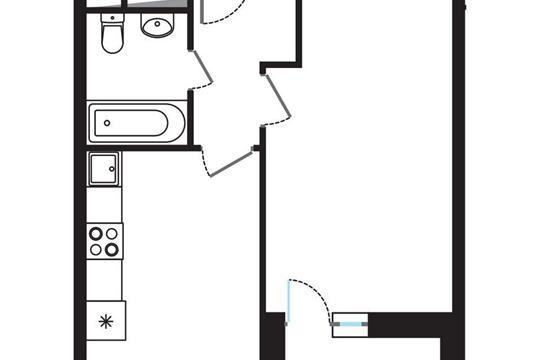 1-комнатная квартира, 35.78 м<sup>2</sup>, 4 этаж