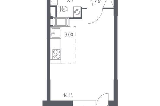 Студия, 24.59 м<sup>2</sup>, 10 этаж_1