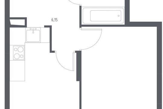 1-комнатная квартира, 38.33 м<sup>2</sup>, 8 этаж_1