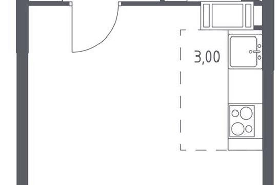 Студия, 27.34 м<sup>2</sup>, 6 этаж_1