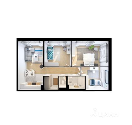 3-комнатная квартира, 78.6 м<sup>2</sup>, 13 этаж_1