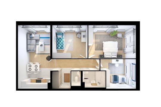 3-комн квартира, 78.5 м<sup>2</sup>, 8 этаж_1