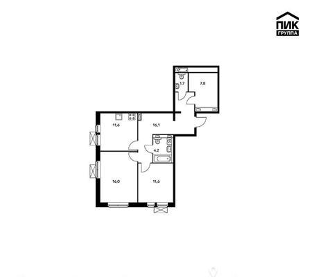 2-комнатная квартира, 69 м<sup>2</sup>, 10 этаж_1