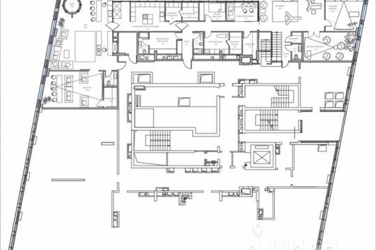 1-комнатная квартира, 1971.1 м<sup>2</sup>, 51 этаж