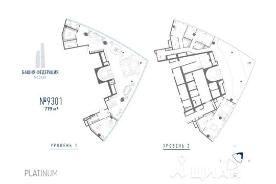 5-комнатная квартира, 719 м<sup>2</sup>, 93 этаж_1