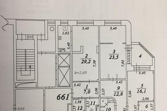3-комнатная квартира, 131 м<sup>2</sup>, 7 этаж