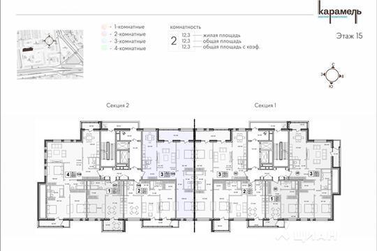 3-комнатная квартира, 131.6 м<sup>2</sup>, 2 этаж