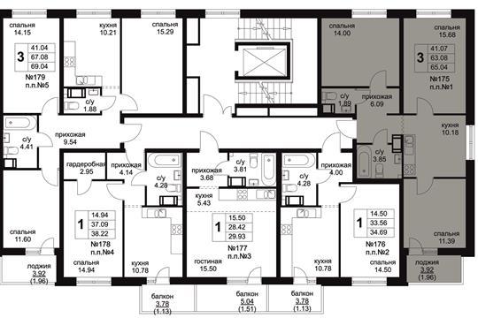 3-комн квартира, 65.04 м<sup>2</sup>, 7 этаж_1
