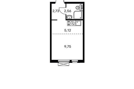 1-комнатная квартира, 20.39 м<sup>2</sup>, 9 этаж