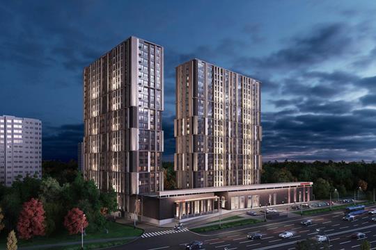 2-комн квартира, 66.16 м2, 22 этаж