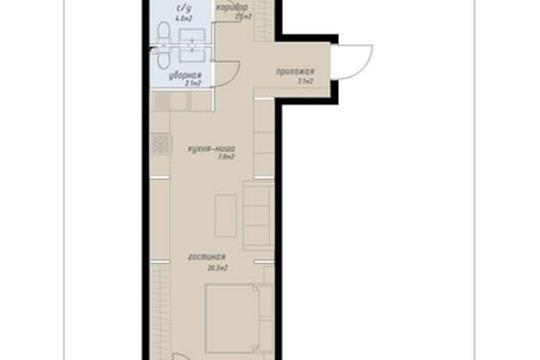 2-комн квартира, 59.3 м2, 2 этаж