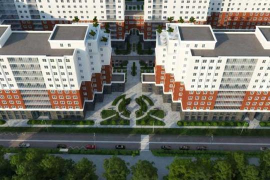 2-комнатная квартира, 75.3 м<sup>2</sup>, 13 этаж