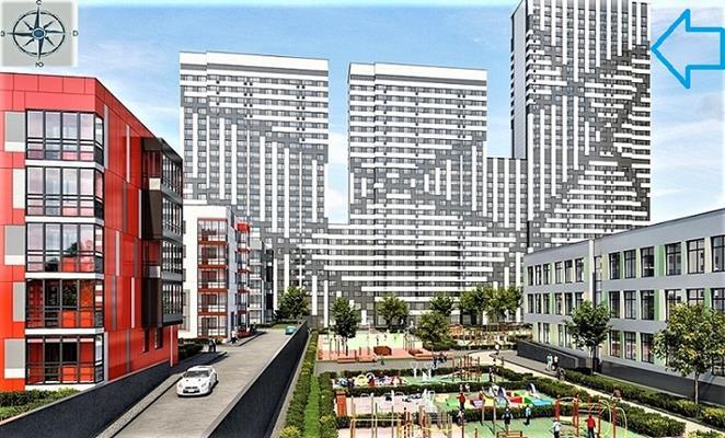 1-комн квартира, 39.3 м2, 30 этаж - фото 1