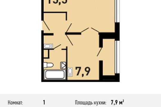 1-комнатная квартира, 32.4 м<sup>2</sup>, 14 этаж