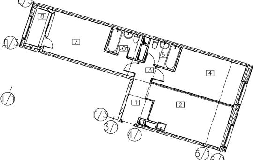 2-комн квартира, 67.8 м2, 14 этаж