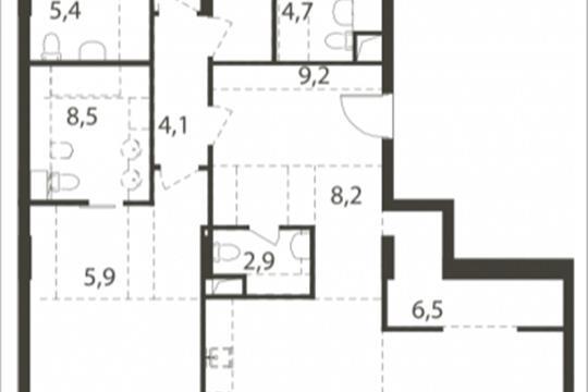 4-комнатная квартира, 185.5 м<sup>2</sup>, 2 этаж_1