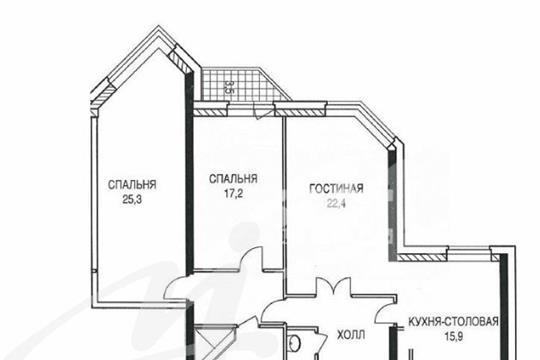 3-комн квартира, 106.4 м2, 8 этаж