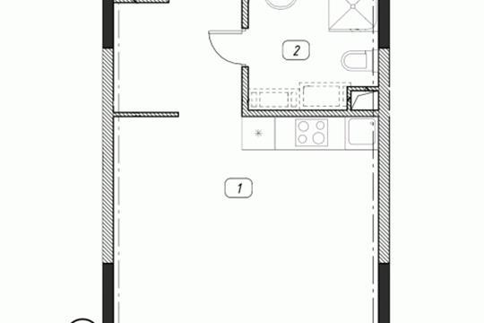1-комнатная квартира, 31.17 м2, 4 этаж