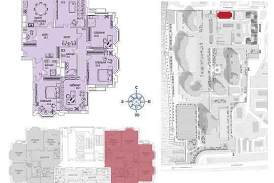 1-комн квартира, 215.7 м2, 31 этаж