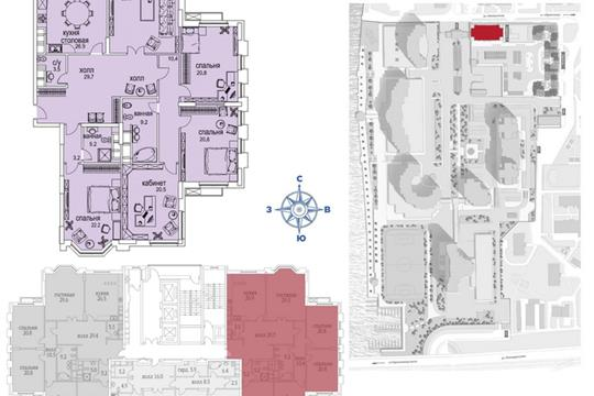 1-комн квартира, 206 м2, 26 этаж