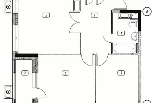 2-комнатная квартира, 67.67 м<sup>2</sup>, 13 этаж