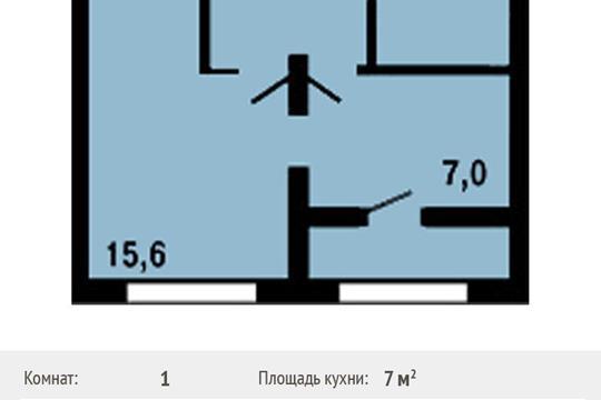1-комнатная квартира, 32.8 м<sup>2</sup>, 12 этаж