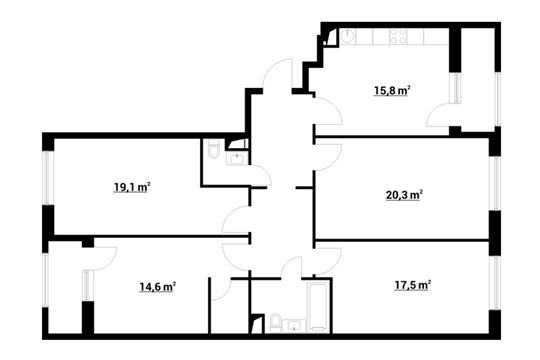 4-комнатная квартира, 112.1 м<sup>2</sup>, 8 этаж