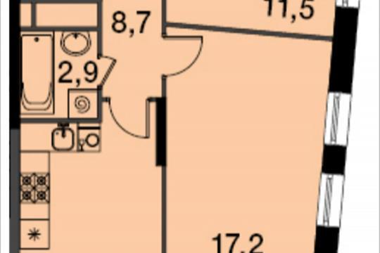 2-комнатная квартира, 53.2 м<sup>2</sup>, 6 этаж