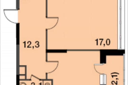 2-комнатная квартира, 59.2 м<sup>2</sup>, 14 этаж