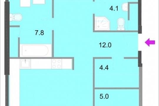 3-комнатная квартира, 112.7 м<sup>2</sup>, 5 этаж_1