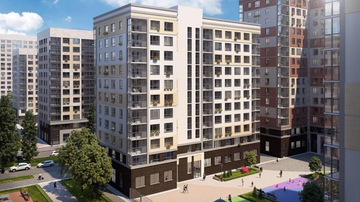 2-комн квартира, 56.9 м2, 14 этаж - фото 1