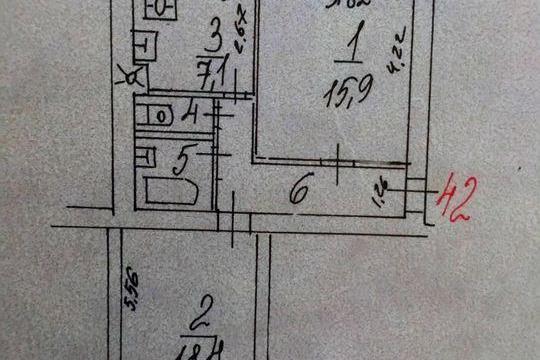 2-комнатная квартира, 54 м<sup>2</sup>, 1 этаж