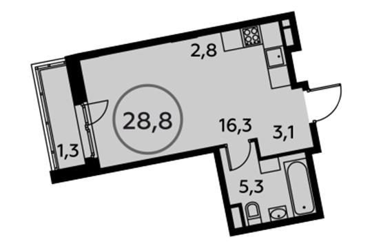 1-комн квартира, 28.8 м<sup>2</sup>, 10 этаж_1