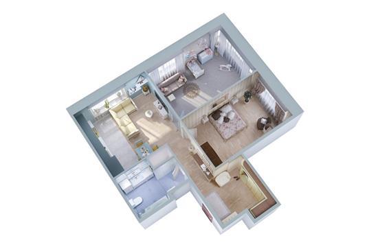 2-комн квартира, 61.7 м<sup>2</sup>, 14 этаж_1